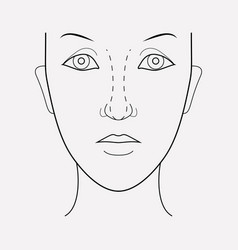 Rhinoplasty icon line element vector