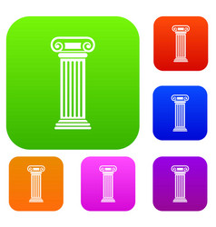 Roman column set collection vector