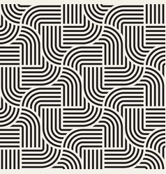 Seamless interlacing lines pattern modern vector