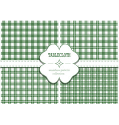 seamless pattern set for st patricks day vector image