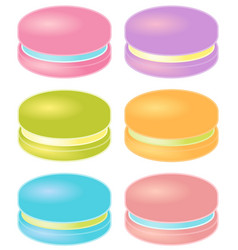 set of colorful macarons vector image