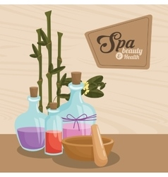 Spa beauty and health aroma therapy bamboo vector