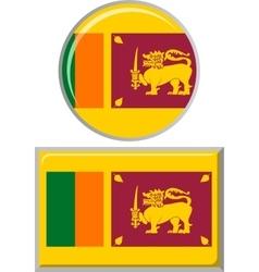 Sri Lanka round and square icon flag vector