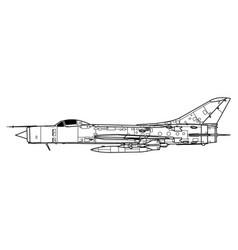 Sukhoi su-11 fishpot c vector