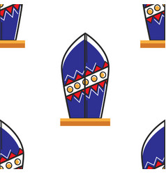 surfboard australian symbol seamless pattern beach vector image