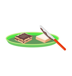 tasty food a sandwich with chocolatefood single vector image