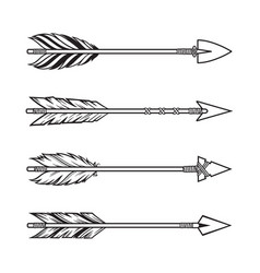 tribal arrows set vector image