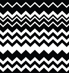 Tribal Aztec zigzag black and white pattern vector