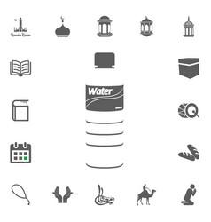 water icon ramadan kareem eid mubarak vector image