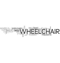 Wheelchair wheels tube be or not tube be text vector