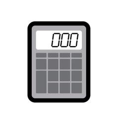 Calculator instrument school office icon vector