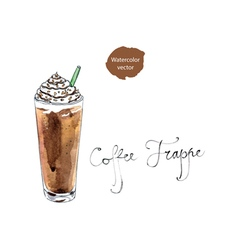 coffee frappe vector image vector image