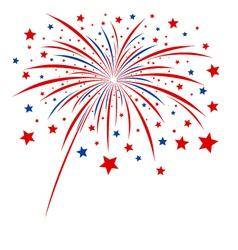 Firework design on white background vector image vector image