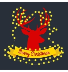 happy reindeer on the eve of New Year and vector image