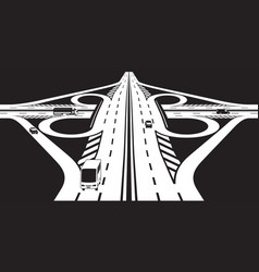 intersection of two highways vector image
