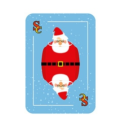Santa Claus playing card New concept of playing vector image