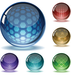 spheres set vector image