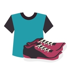 sport tennis shoes isolated icon vector image