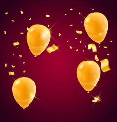 templates of a celebration of the golden balloons vector image