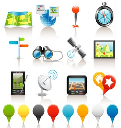location icons vector image vector image