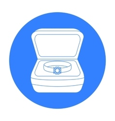 Ring in box icon in black style isolated on white vector image