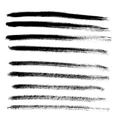 set of different grunge brush strokes and stains vector image vector image