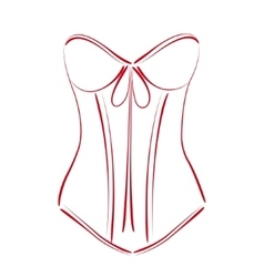 Sketched corset vector image vector image