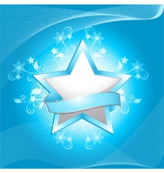 winter snowflake and flourish vector image vector image