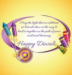 Attractive diwali card vector image vector image