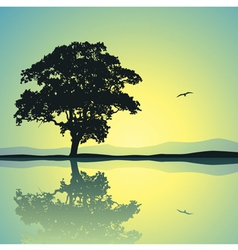 Lone Tree vector image vector image