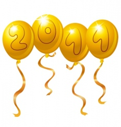 new year balloons vector image