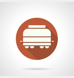 Refrigerated rail car round icon vector