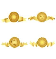 Set of golden design elements vector image vector image