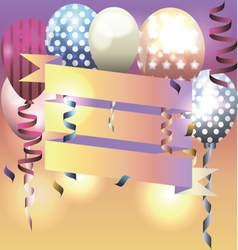 Template for invitation birthday card vector image