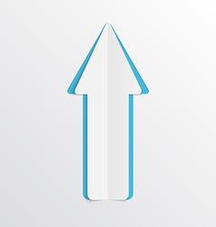 White paper arrow vector image