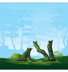 Broken trees with a curved crown vector