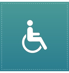 disabled flat icon vector image