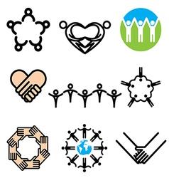 logo icons unity vector image