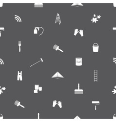 paint icons seamless gray and white pattern eps10 vector image vector image