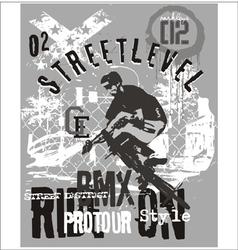 street level biker 3 vector image vector image