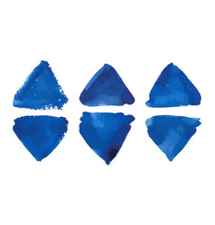 watercolor colorful blue triangles banner vector image vector image