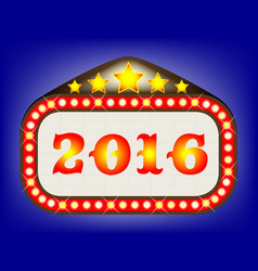 2016 movie theatre marquee vector image