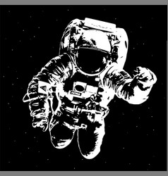 Astronaut in outer space elements of this image vector