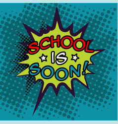 back to school in comic speech bubbles vector image