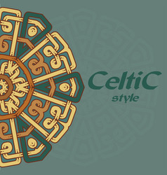 Beautiful postcard with celtic pattern vector