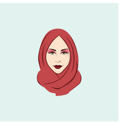beautiful stylish hijab girl vector image