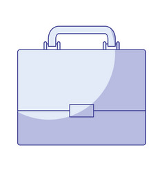 Blue shading silhouette of executive briefcase vector