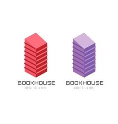 Book skyscraper template logo icon Back to school vector