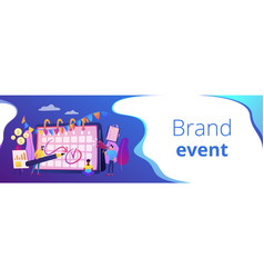 brand event concept banner header vector image