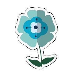 Cartoon flower flourish natural vector
